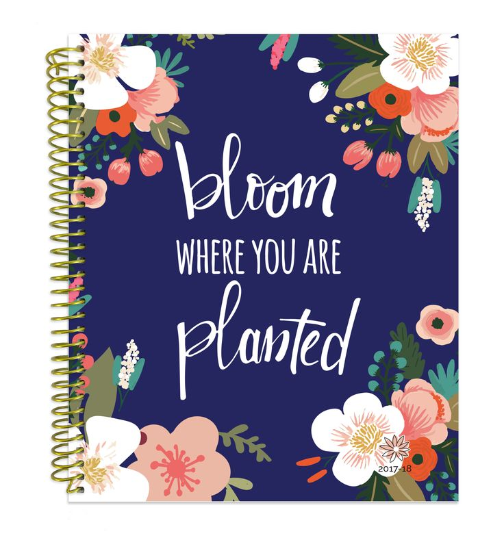 """2017-18 Soft Cover Vision Planner, bloom where you are planted PRE-ORDER 