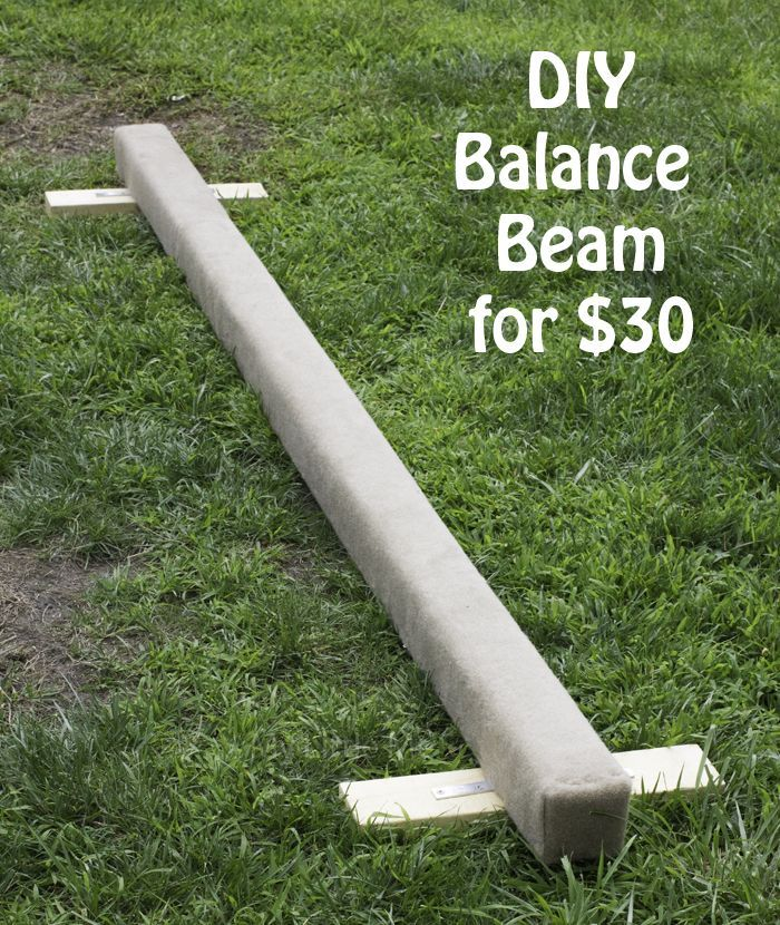 DIY balance beam for $30 or less. So easy to make!  - My Little Me