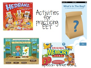 Speech Time Fun: Building Vocabulary with EET!-activities for practicing EET. Pinned by SOS Inc. Resources. Follow all our boards at pinterest.com/sostherapy for therapy resources.