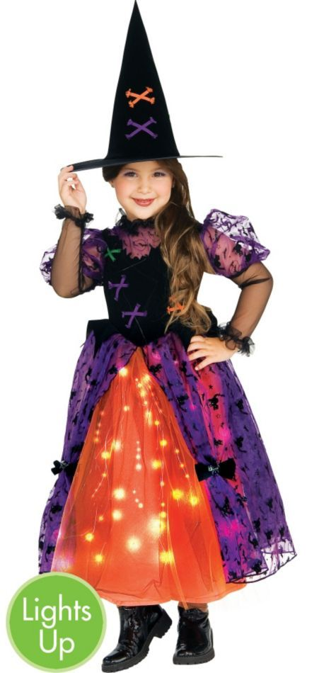 Girls Toddler Witch Costume - Light-Up Twinkler Witch Costume - Party City.  I love this costume!