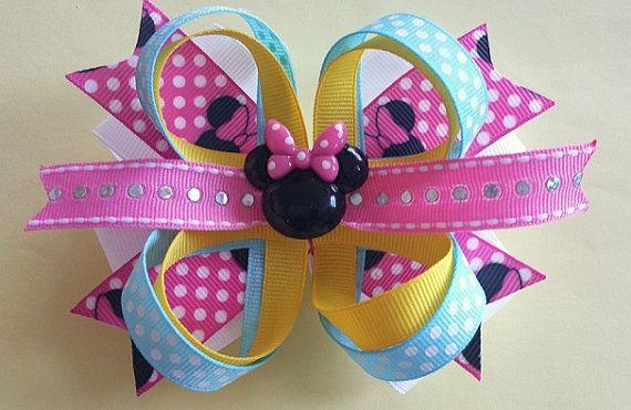 DISNEY MINNIE BOW. Minnie Mousse Hair Bow. Disney by pixieclip