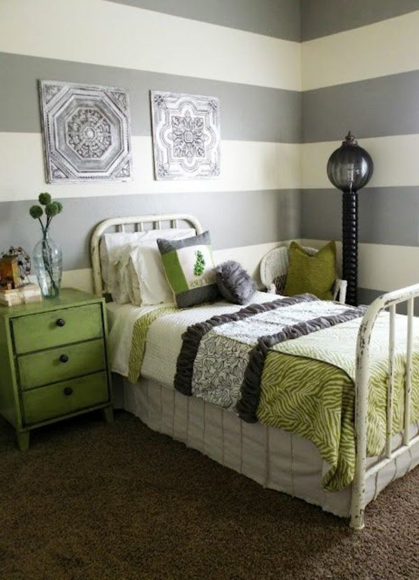 17 best images about chambre couleur verte on pinterest for Model petite chambre a coucher