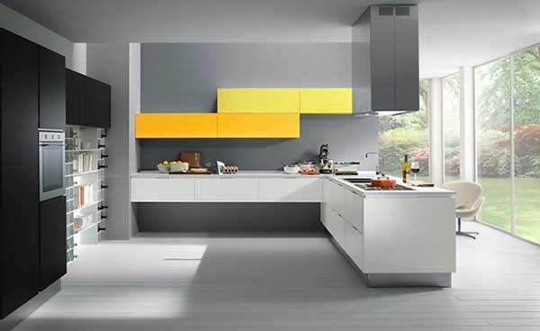 Kitchen. Love the wide windows!