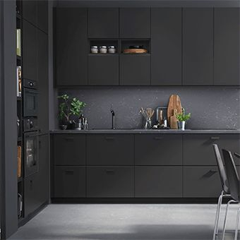 Cuisine anthracite Kungsbacka IKEA