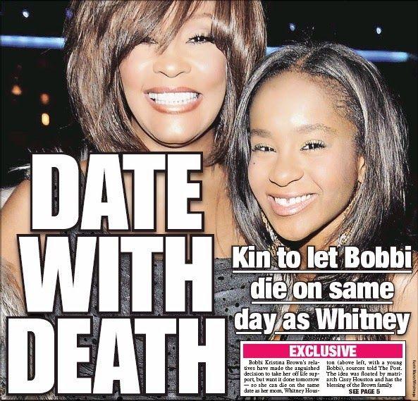 DAEDITH: Bobbi Kristina ,Filha de Whitney Houston vai morre...