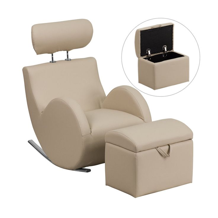 Courtland Kids Recliner Chair and Ottoman