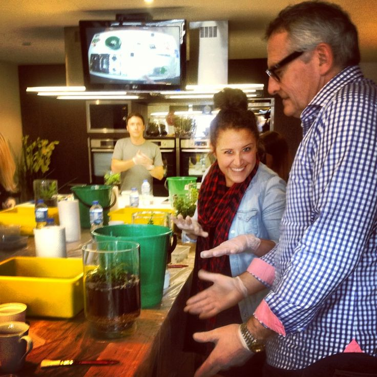Hayley and Dad at Bosky Workshop