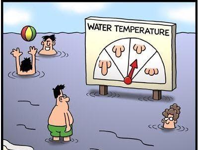 Cartoon by Tim Whyatt     Nota: E escusam de me vir com multas, que ponho já os vizinhos dentro de água e vamos ver se é verdade ou mentira!...