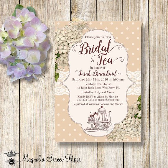 bridal tea party invitations high shower invitation kitchen invite