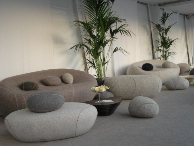 Quinzaine des realisateurs Cannes  love these rock pillows and they are surprisingly comfy
