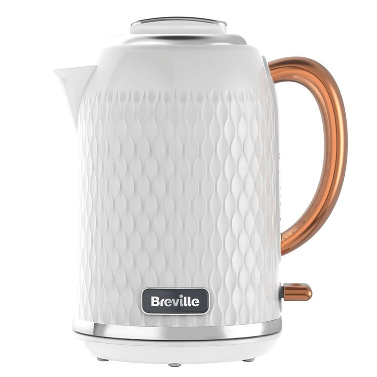 The Breville Curve Collection plastic 1.7L jug kettle featues a cream body and chrome accents. Update your kitchen with the matching 4 slice toaster.