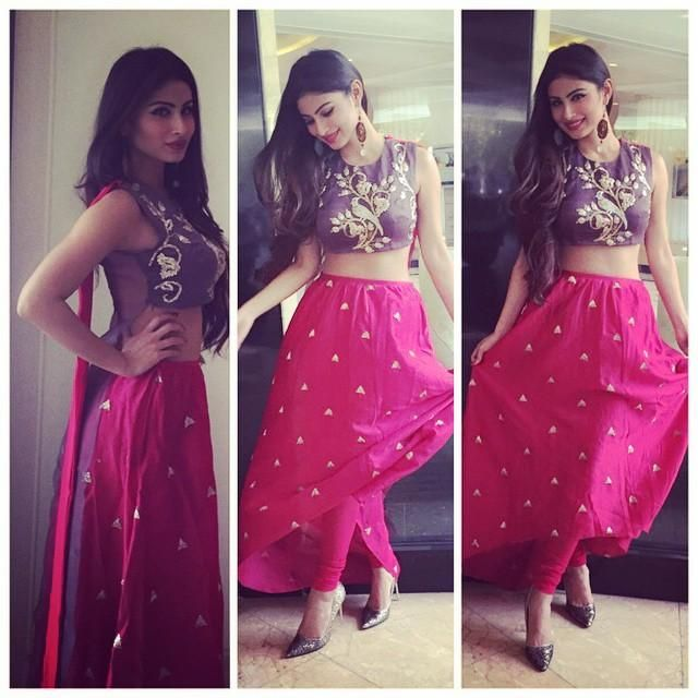 Pic Alert: Mouni Roy in Payal Singhal for a day event!   PINKVILLA