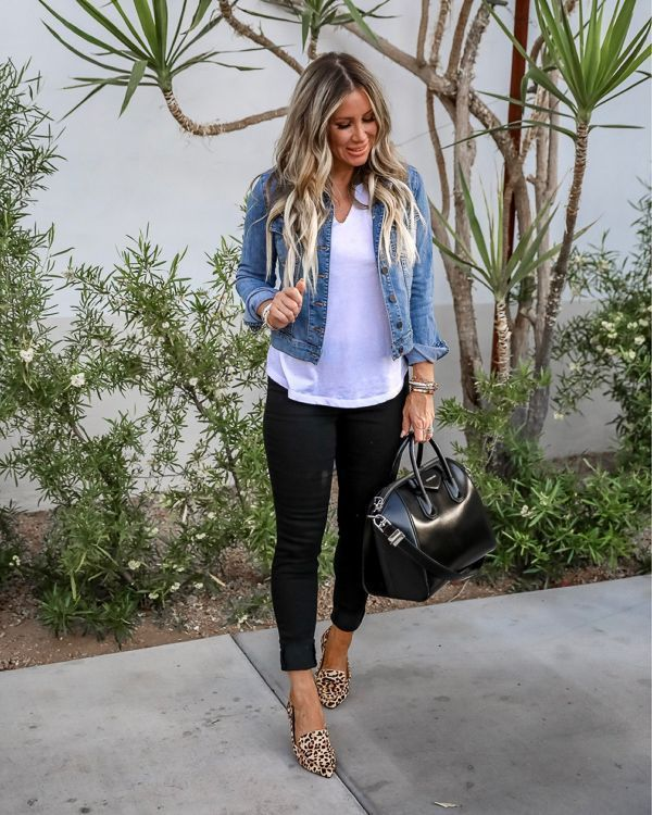 Gorgeous Outfit With Black Pants And Blue Jacket