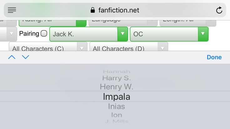 I love how on the supernatural fanfiction website the Impala is a character