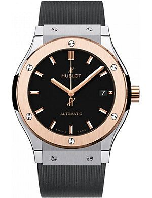HUBLOT 511.OX.1180.RX classic fusion 18ct rose gold watch