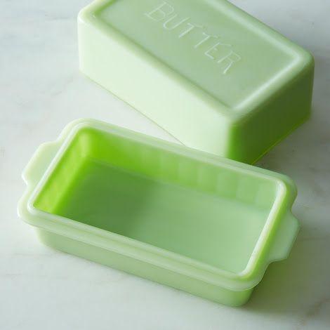 1930s Vintage Jadeite Butter Dish