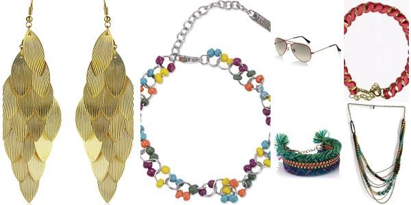"""Chic on the Sand- Nargis Fakhri"" Awesome list on #bracelets #neckpieces by @Meghan Mazzola.vij0gmail.com #fashion"
