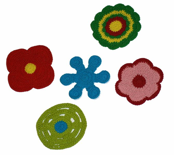 Kolorowe podkładki 5 szt w Barabella_shop na DaWanda.com