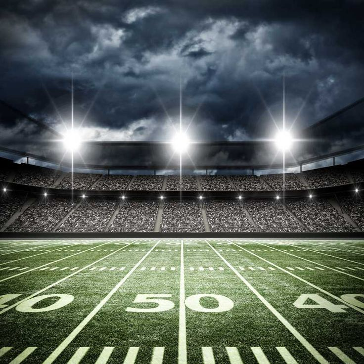 6327 Football Stadium 50 Yard Line Backdrop