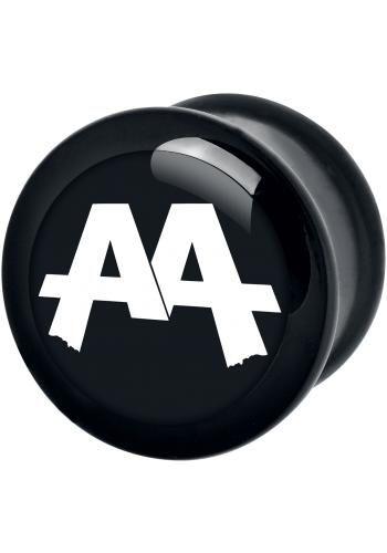 """Plug singolo """"Black Logo"""" degli #AskingAlexandria."""