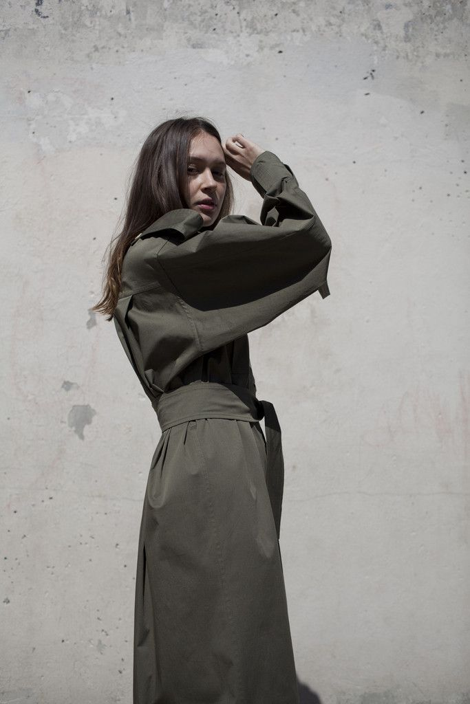 Anne Sofie Madsen No Nice Dress w/o Pencil Holders in Military Green