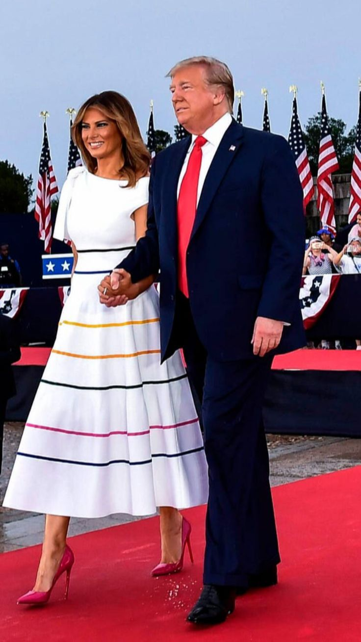 President First Lady Melania Trump Salute To America 4th Of July 2019 First Lady Of America First Lady American First Ladies