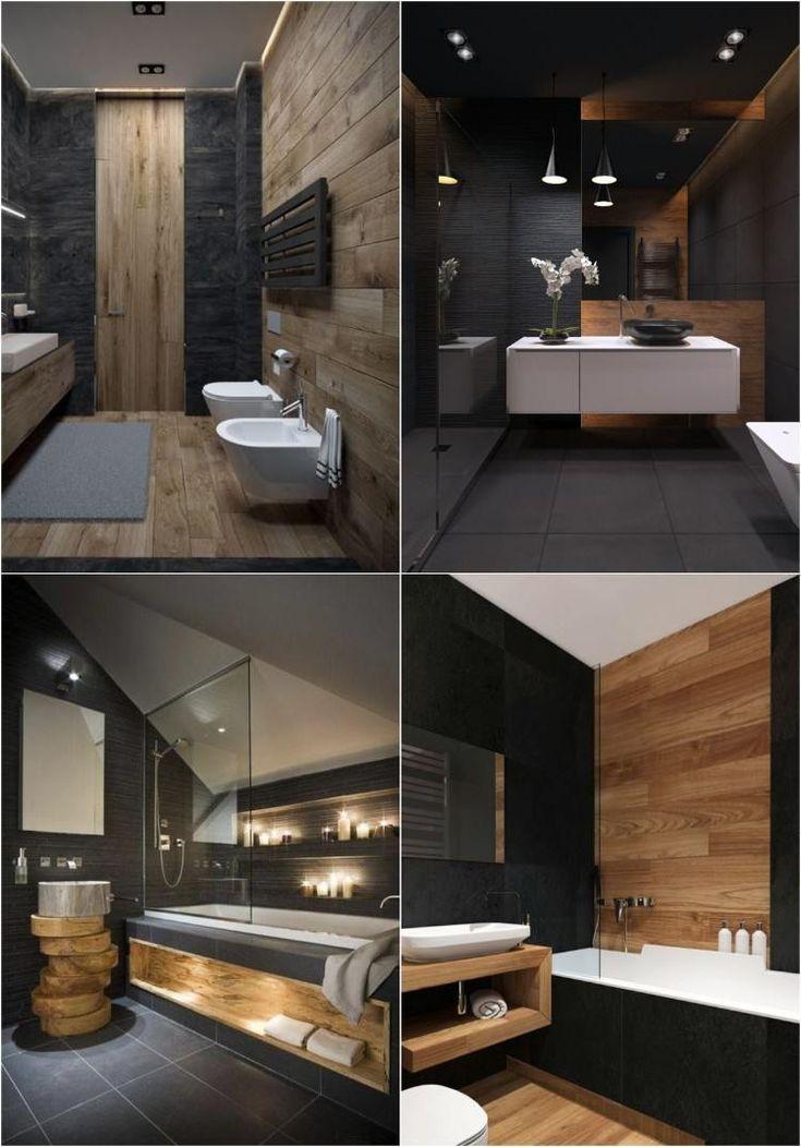 Déco murale salle de bain en 50 ambiances sombres et respirant le luxe!
