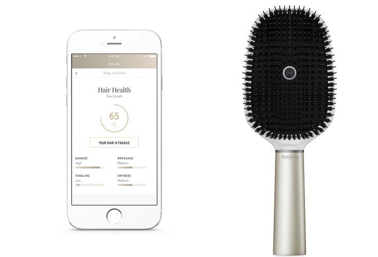 Escova inteligente escuta o cabelo e avalia frizz e ressecamento