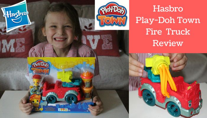 Hasbro Play-Doh Town Fire Truck Review http://www.amomentwithfranca.com/hasbro-play-doh-town-fire-truck-review