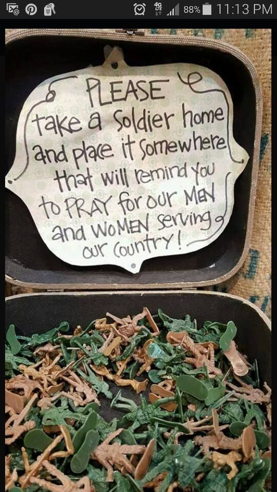 I might change up the wording some but I really like this idea for a booth...put this somewhere near a sign that tells about my military/veterans discount.
