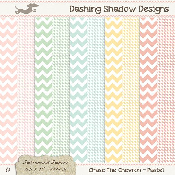 A4 Chase The Chevron in Pastel Colours Digital Printable Scrapbook Craft Paper | Patterns: Chevron, Zig Zag. This instant download digital paper pack includes ten A4 papers with two different chevron designs in five pastel colours which are exclusive to my A4 collection - Blush, Cucumber, Sea, Buttercup and Peach. All sheets have a very subtle and smooth texture, designed to look like paper you'd find in any good quality stationery store.