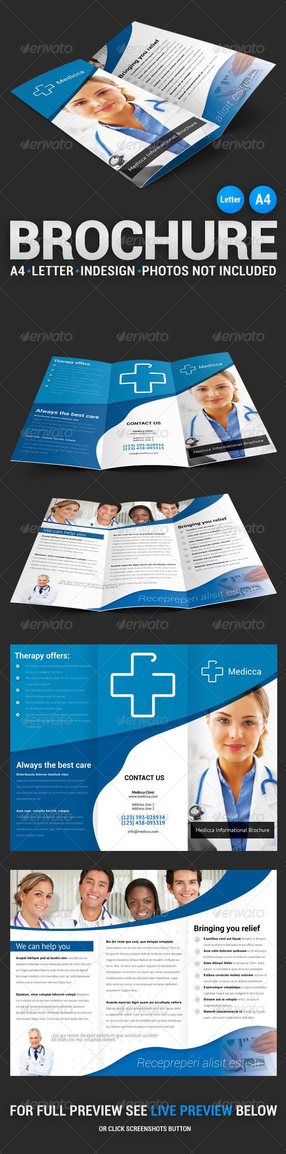 Medicca Tri-fold Brochure #layout #template