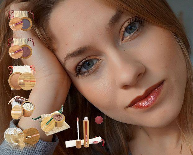 Après le maquillage soirée, Charlotte nous présente un maquillage jour avec : - Soie de Teint 701 - Mineral Silk 500 - Terre Cuite Minérale 342 - Ombres à paupières 104 & 205 - Mineral Touch 531 - Gloss 005 #zaomakeup #makeupbio #makeup #maquillagebio