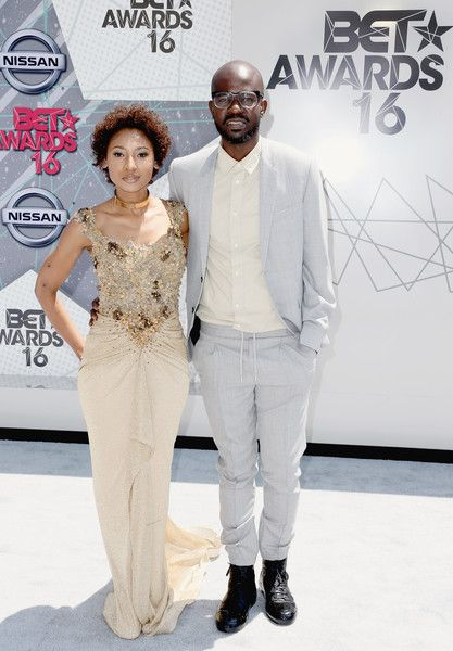 DJ Black Coffee (R) and Mbali Mlotshwa attends the 2016 BET Awards at the Microsoft Theater on June 26, 2016 in Los Angeles, California.