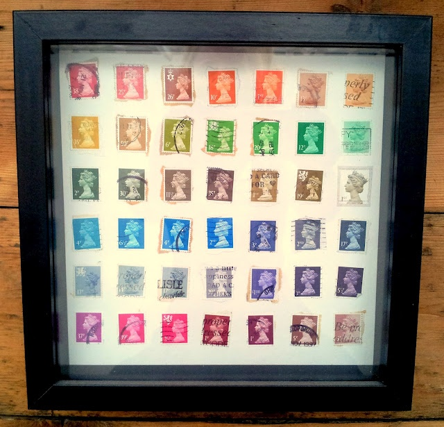 Stamp collection. for all the colorful multiples I  have