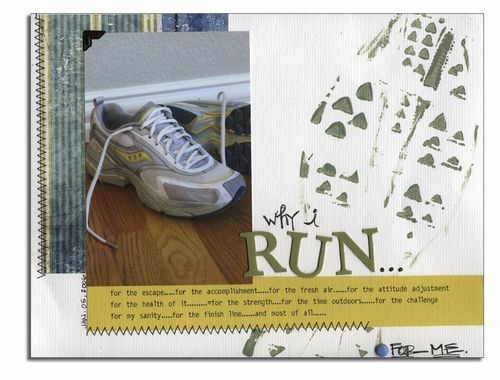 Love this for running scrapbook!!