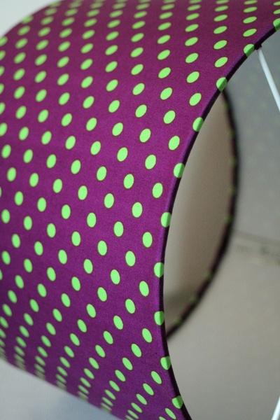 Kinderlampenschirm purpur Punkte