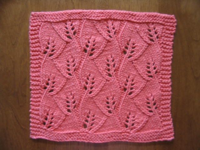 Knit Dishcloth Corner - Vineyard Knitting Pinterest Lace, Vineyard and ...