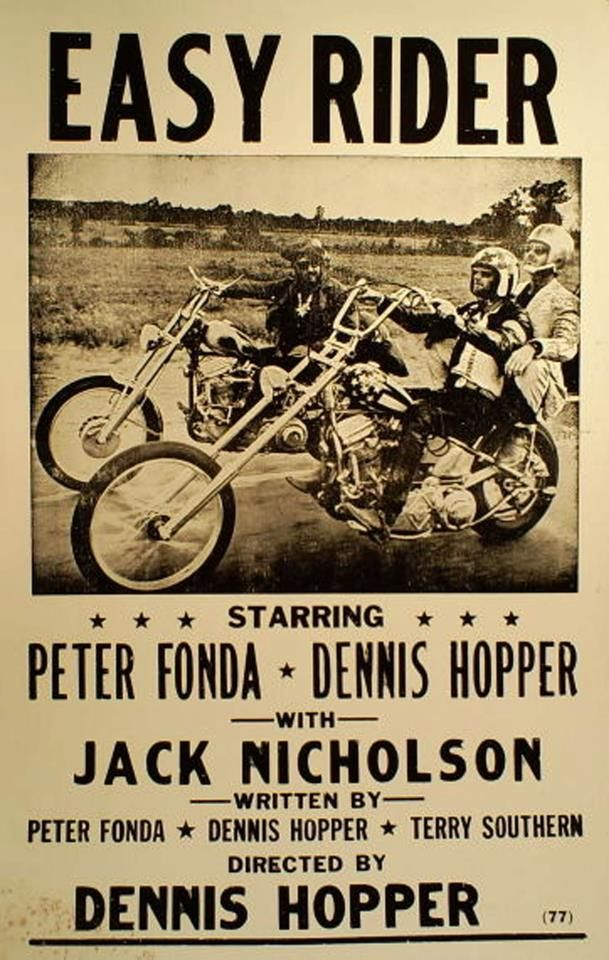 Easy Rider--- I think this movie is sad at the end tho.