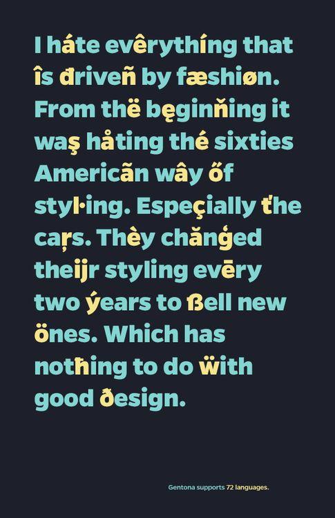 Gentona Typeface by Rene Bieder