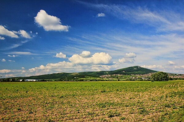 Nitra, Slovakia. Pohlad na Zobor.