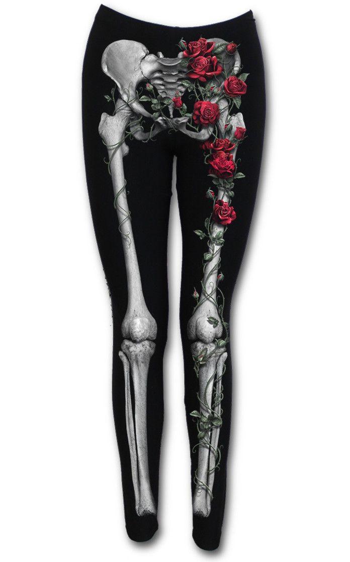 Leggins Rose Bones de Spiral #gothic #gothicstyle #ropagotica #spiraldirect #xtremonline #skeleton #gotico #blackclothes