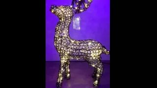 LED GLASS LOOK REINDEER  WITH RUNNING LEG  120CM X 100CM  400 WARM WHITE LEDs WITH STATIC/TWINKLE EFFECT