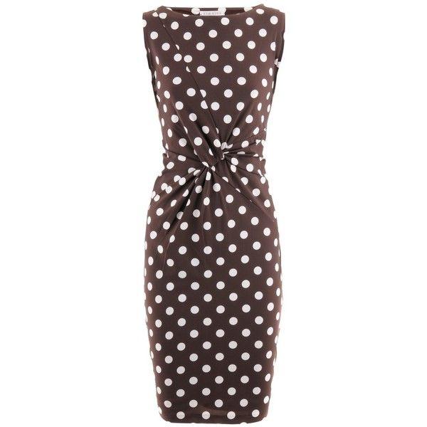 Kimmich Chocolate Polka Dots Dress