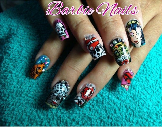 19 best barbie nails images on Pinterest | Barbie, Barbie doll and ...