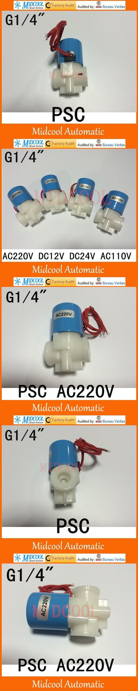"""high quality 2 way Plastic micro solenoid valve water dispenser 1/4"""" BSP flow control for water purifier RO machine"""