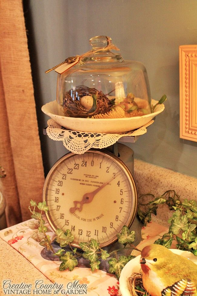 Creative Country Mom's: Vintage Style Decor: New Cottage Kitchen Reveal!