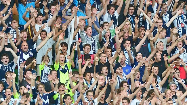 Melbourne Victory fans are among the best in the A-League. Picture: George Salpigtidis Source: Herald Sun