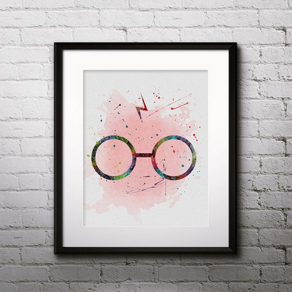 Aquarell – Harry Potter Star Wars poster Wandkunst Kunstdruck – ein Designerstück von DigitalAquamarine bei DaWanda