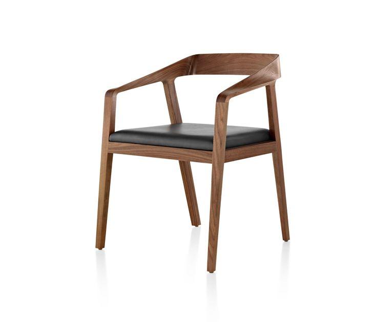 Der Full Twist Besucherstuhl von Mark Goetz, ein stabiler Holzstuhl mit gepolsterter Sitzfläche, ist sowohl vielseitig als auch komfortabel. Dank einer..